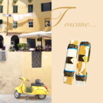 Double manchette Tosca tissu et cuir