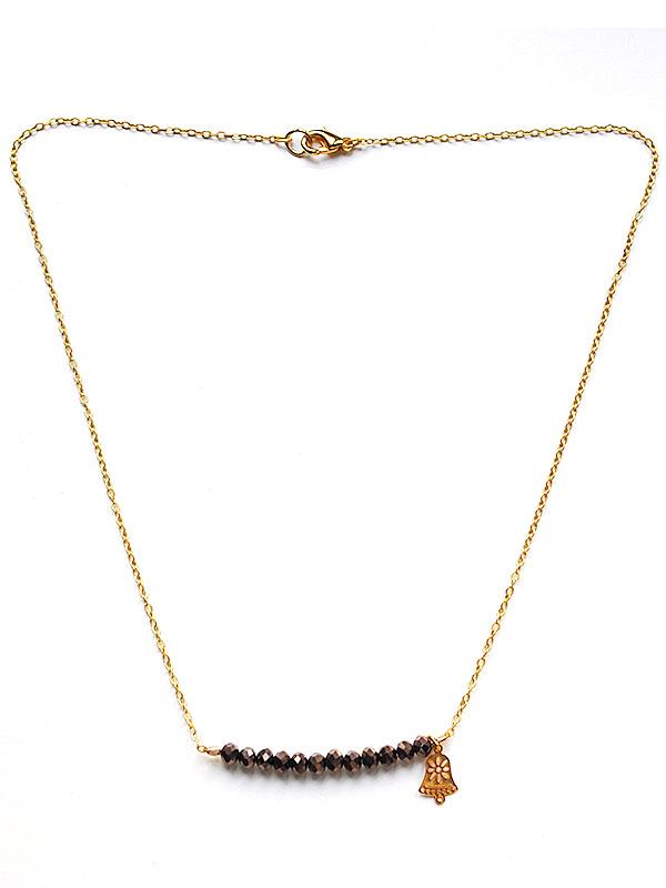 Collier perles de verre facetté
