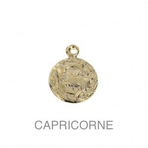im-Breloque-astrologique-signe-du-zodiaque-Capricorne-13-mm-Plaque-Or-3-microns-x1