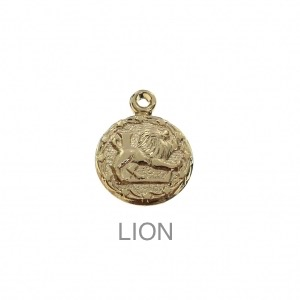 im-Breloque-astrologique-signe-du-zodiaque-Lion-13-mm-Plaque-Or-3-microns-x1