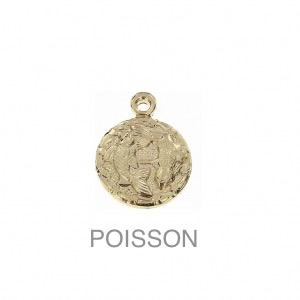 im-Breloque-astrologique-signe-du-zodiaque-Poisson-13-mm-Plaque-Or-3-microns-x1