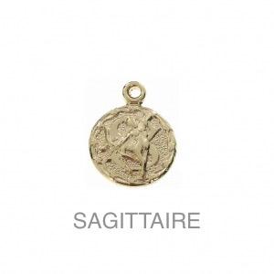 im-Breloque-astrologique-signe-du-zodiaque-Sagittaire-13-mm-Plaque-Or-3-microns-x1
