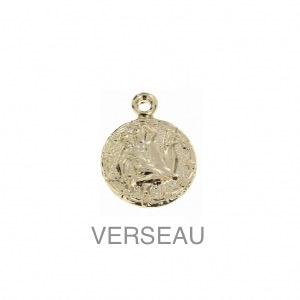 im-Breloque-astrologique-signe-du-zodiaque-Verseau-13-mm-Plaque-Or-3-microns-x1