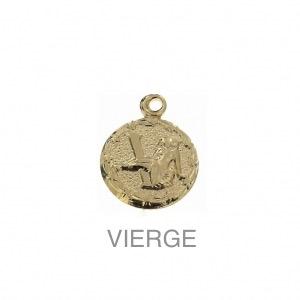 im-Breloque-astrologique-signe-du-zodiaque-Vierge-13-mm-Plaque-Or-3-microns-x1